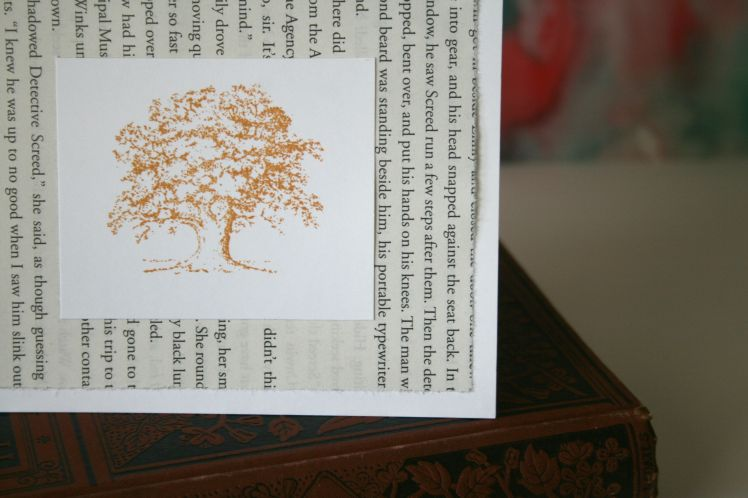 Mustard Yellow Oak Tree Blank Card
