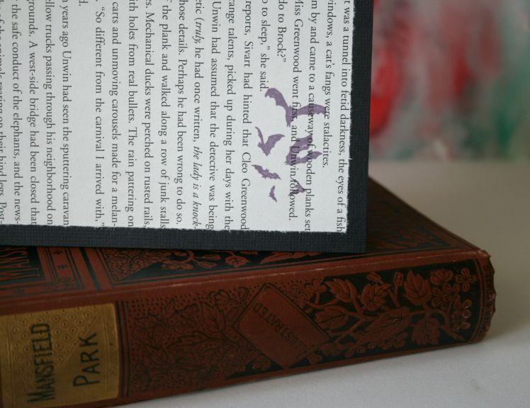 Violet & Black Bats Blank Card