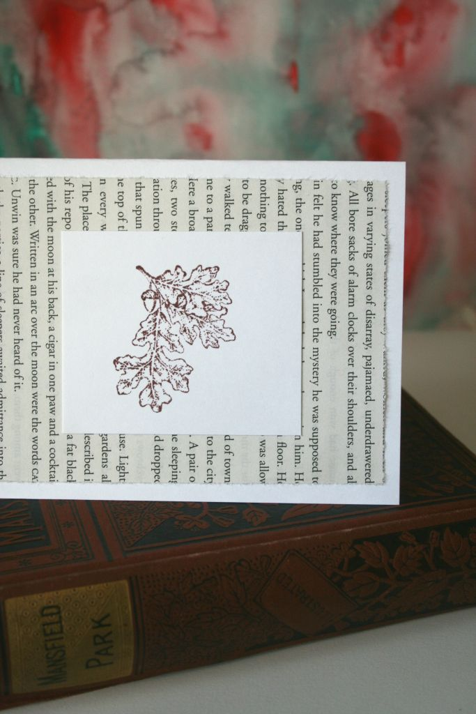 Burgundy Fall Leaves Blank Card