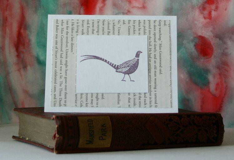 Violet Pheasant Blank Card