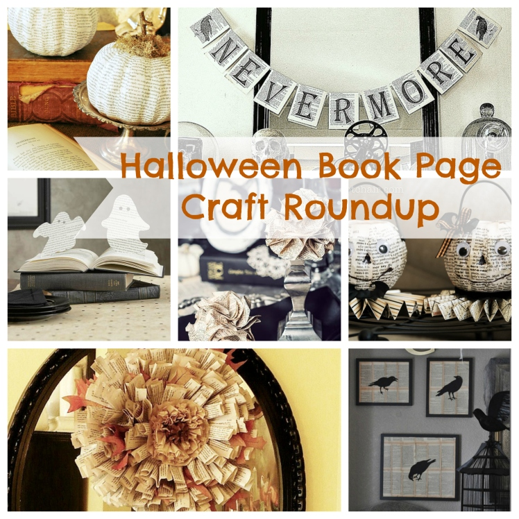Friday Faves: Roundup of Clever Halloween Book Page Crafts