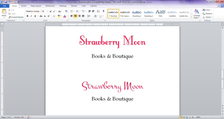 Throwback Thursday: Strawberry Moon Branding, circa April 2013 | Strawberry Moon Blog