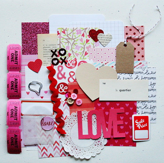 Friday Faves: The Creative Place Etsy Shop (I Love You Scrap Pack) | Strawberry Moon Blog