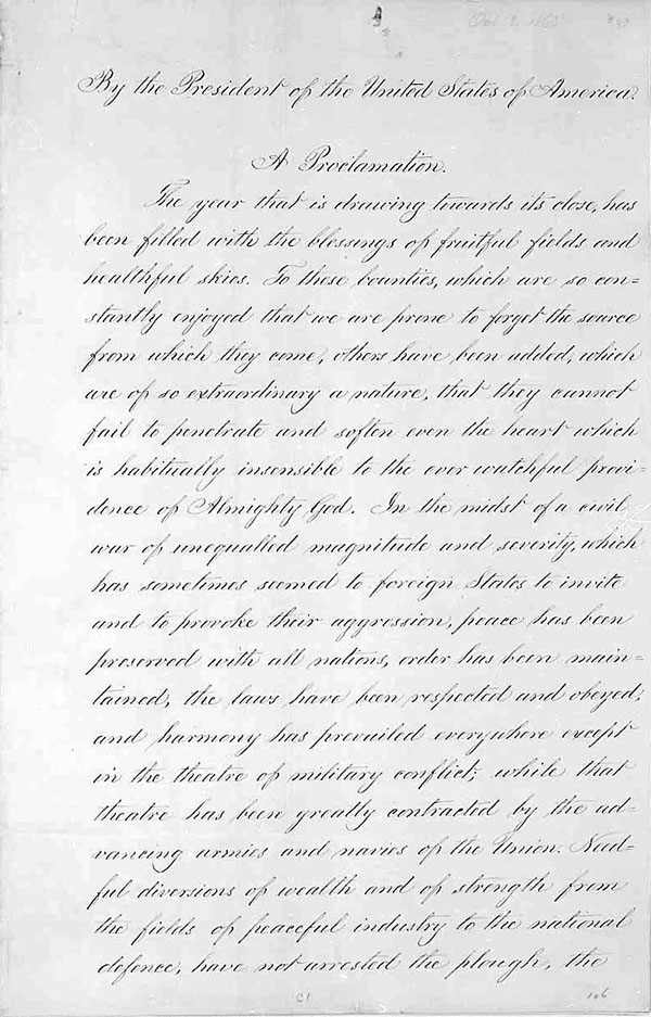 Throwback Thursday: Lincoln's Thanksgiving Proclamation | Strawberry Moon Blog
