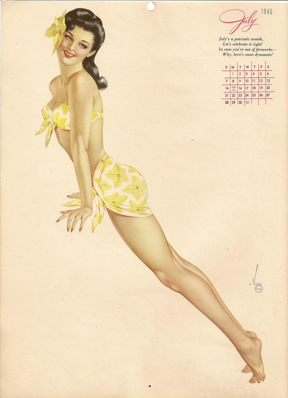 Vintage esquire calendars