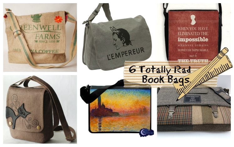 6 Totally Rad Book Bags | Strawberry Moon Blog