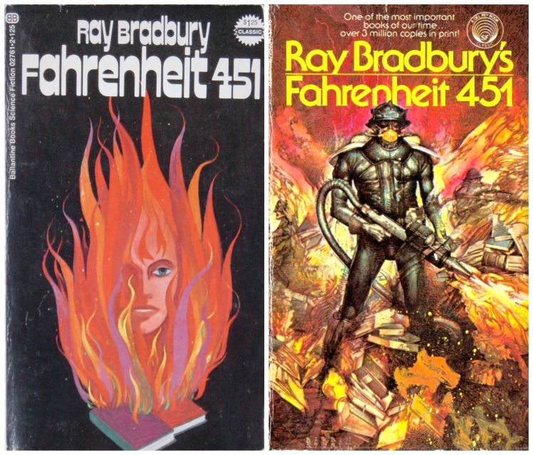 "7 Decades of ""Fahrenheit 451"" Book Covers 