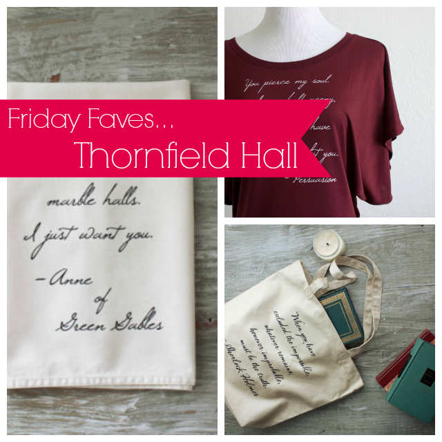 Friday Faves: Thornfield Hall Etsy Shop | Strawberry Moon Books